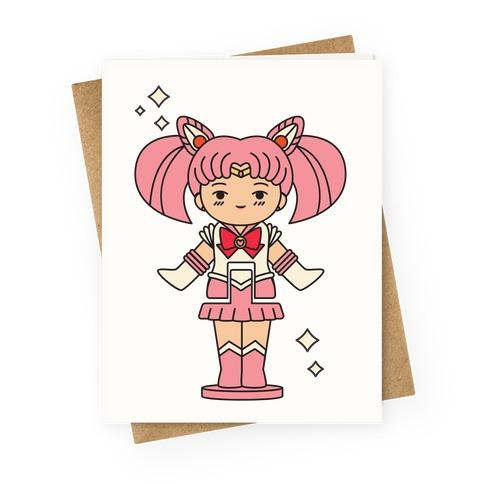 Sailor Chibi Moon Pocket Parody Greeting Card