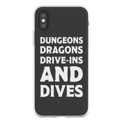 Dungeons Dragons Drive-ins And Dives Phone Flexi-Case