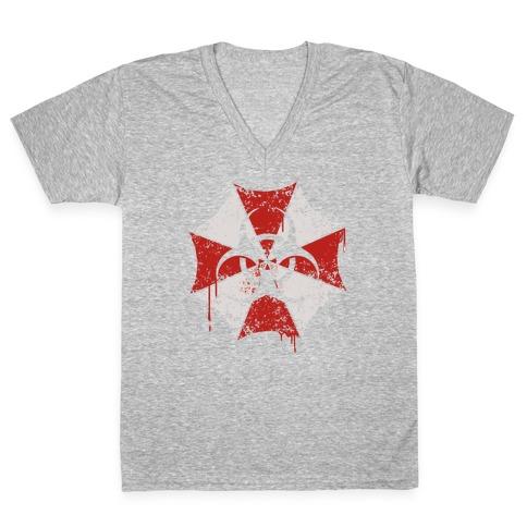 Umbrella Corp / Biohazard V-Neck Tee Shirt