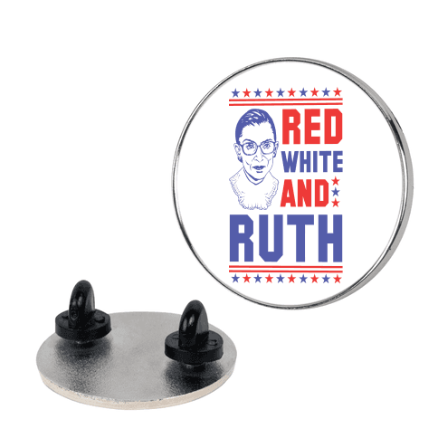 Red White and Ruth Pin