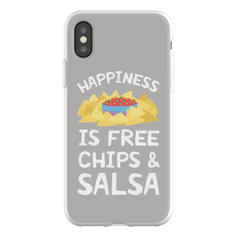 Happiness Is Free Chips And Salsa Phone Flexi-Case