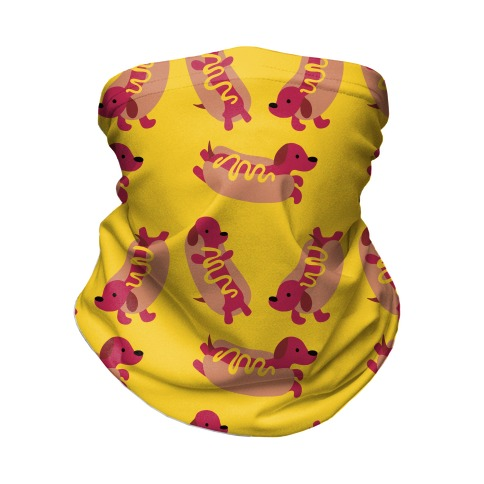 Hot Doggie Pattern Neck Gaiter