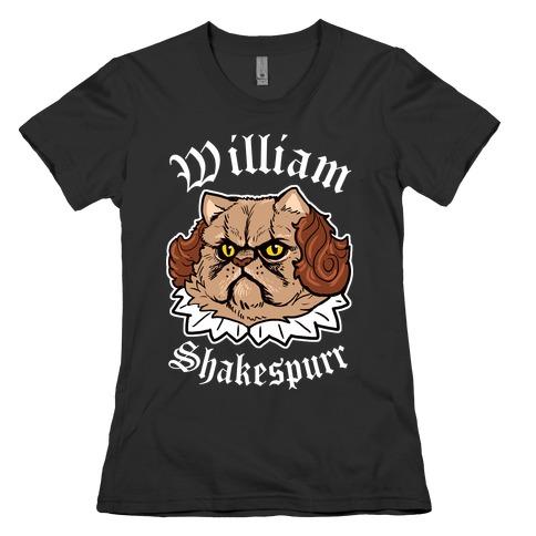 William Shakespurr Womens T-Shirt