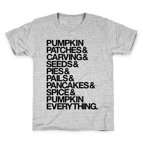 Pumpkin Patches & Carving & Pumpkin Everything Kids T-Shirt