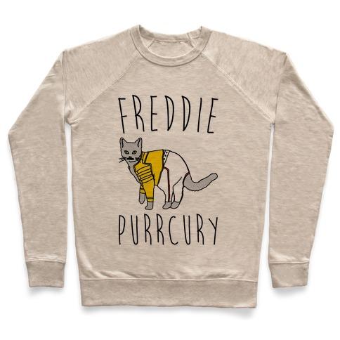 Freddie Purrcury Cat Parody Pullover