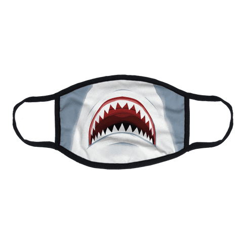 Shark Mouth Flat Face Mask
