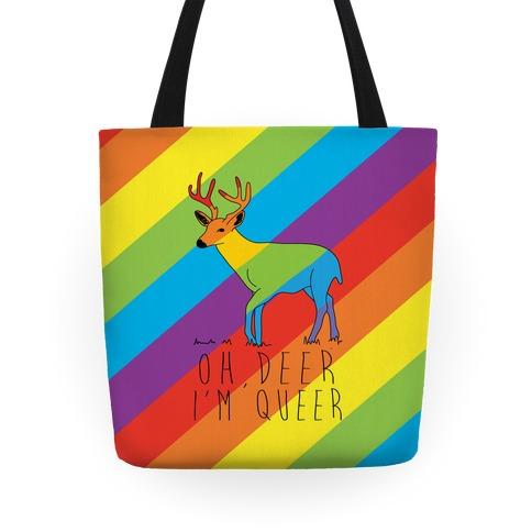 Oh Deer I'm Queer Tote