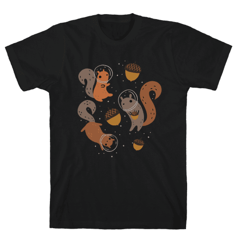 Squirrels In Space Mens/Unisex T-Shirt