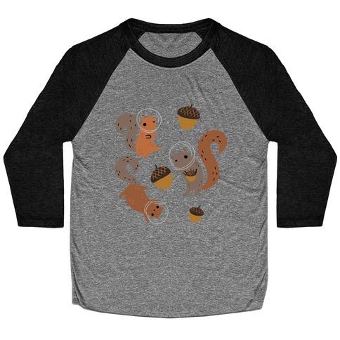 Squirrels In Space Baseball Tee
