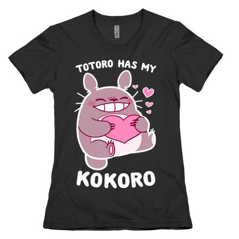 Totoro Has My Kokoro Womens T-Shirt