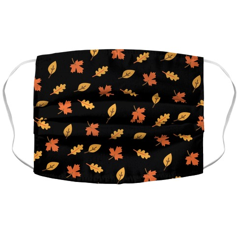 Fall Leaves Pattern Accordion Face Mask