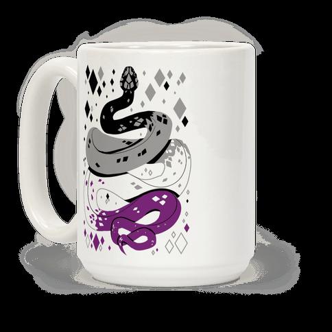 Pride Snakes: Ace Coffee Mug