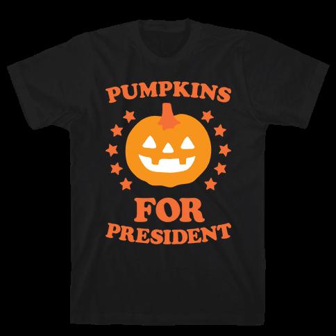 Pumpkins For President (White) Mens T-Shirt