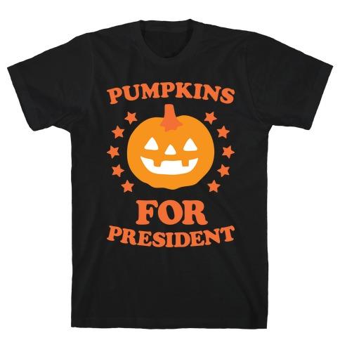 Pumpkins For President (White) T-Shirt