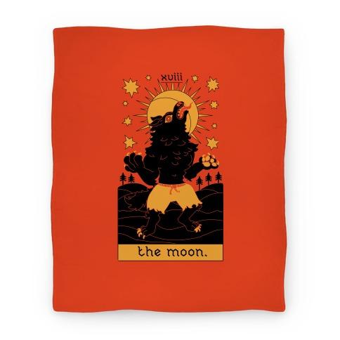 The Moon Werewolf Tarot Blanket