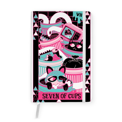Creepy Cute Tarots: Seven Of Cups Notebook