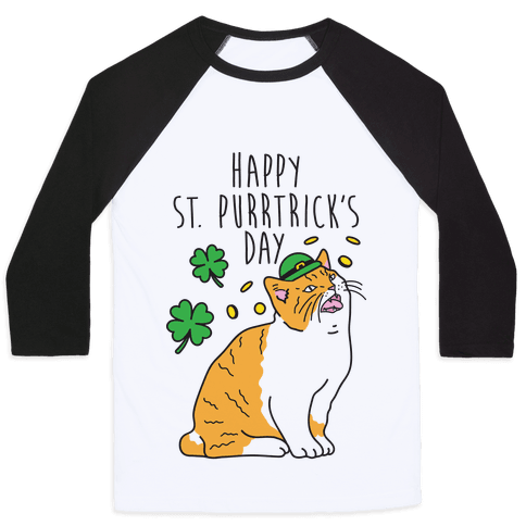 Happy St. Purrtrick's Day Baseball Tee
