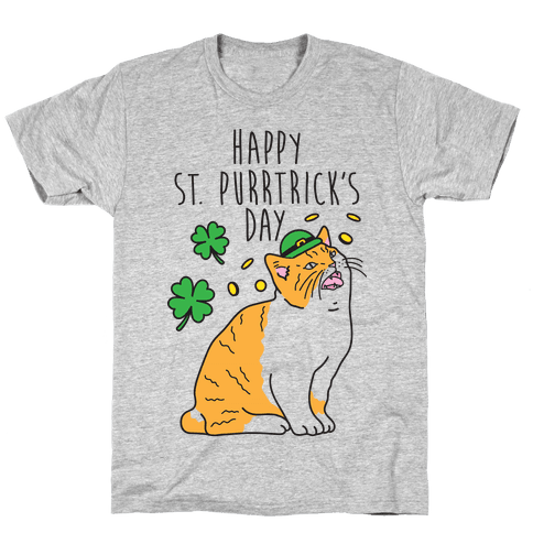 Happy St. Purrtrick's Day Mens T-Shirt