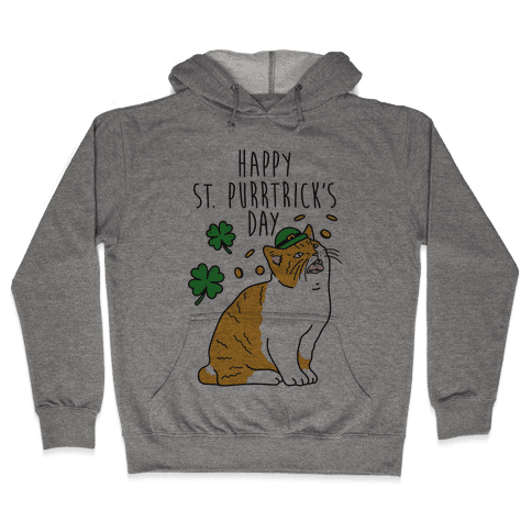 Happy St. Purrtrick's Day Hooded Sweatshirt