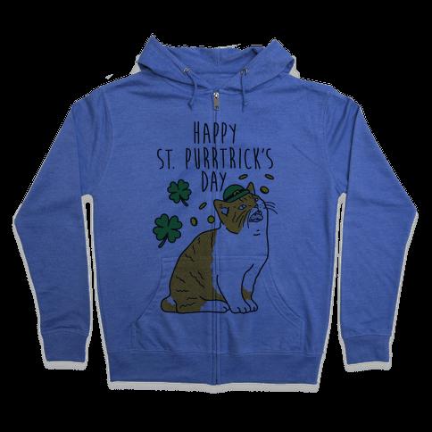 Happy St. Purrtrick's Day Zip Hoodie