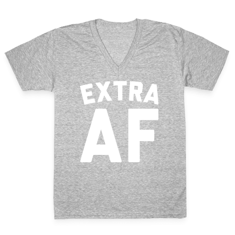 Extra Af V-Neck Tee Shirt