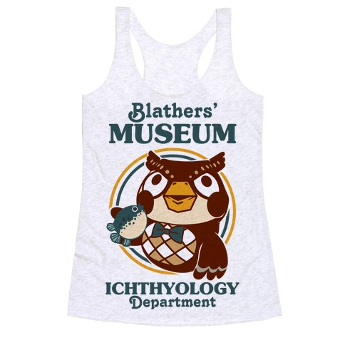 Blathers' Museum Ichthyology Department Racerback Tank Top
