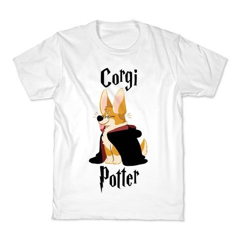 Corgi Potter Kids T-Shirt