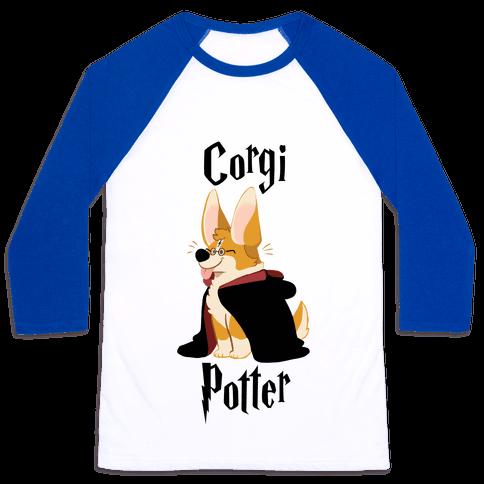 Corgi Potter Baseball Tee