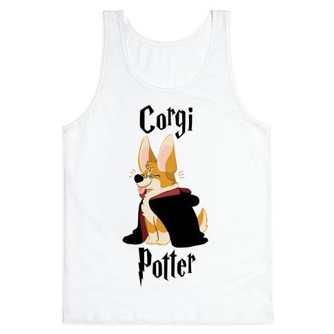 Corgi Potter Tank Top