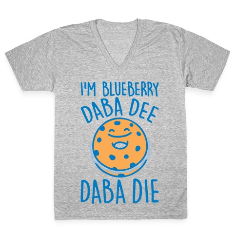 I'm Blueberry Da Ba Dee Parody V-Neck Tee Shirt