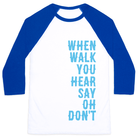 Simple and Clean Lyrics (1 of 2 pair) Baseball Tee