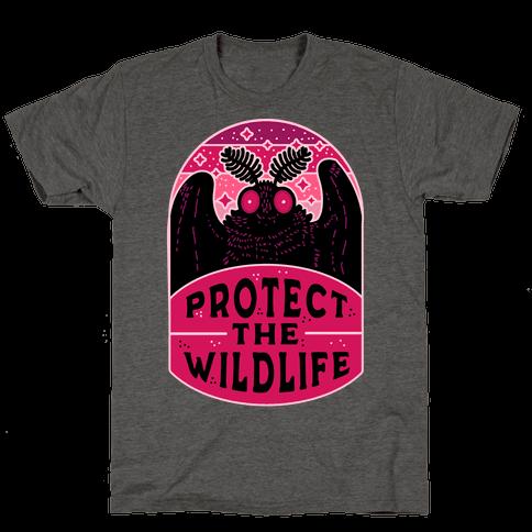 Protect the Wildlife (Mothman) Mens/Unisex T-Shirt