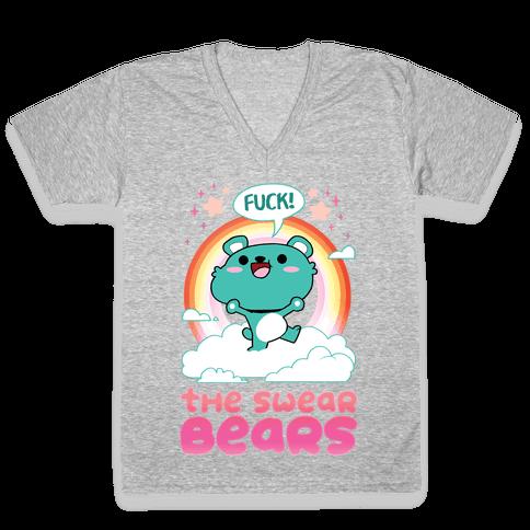 The Swear Bears V-Neck Tee Shirt