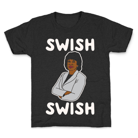 Swish Swish Maxine Waters Parody White Print Kids T-Shirt