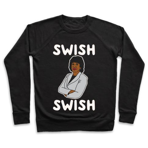 Swish Swish Maxine Waters Parody White Print Pullover