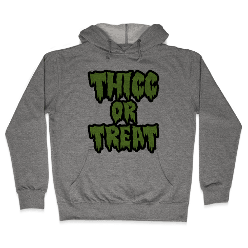 Thicc Or Treat Hooded Sweatshirt