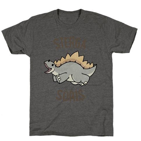 Derpy Stegosaurus Animal T-Shirt