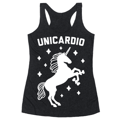 Unicardio (White) Racerback Tank Top