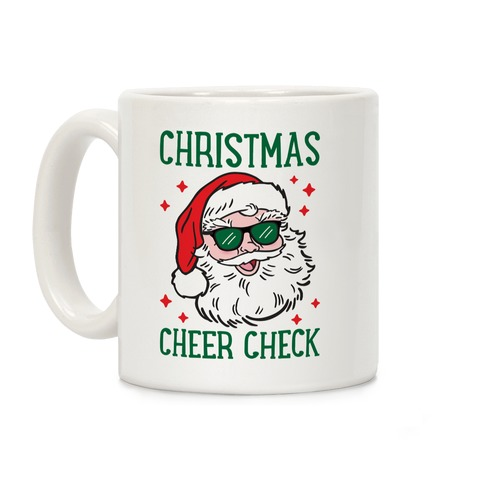 Christmas Cheer Check Coffee Mug