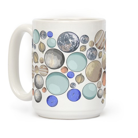 Planets Pattern Coffee Mug