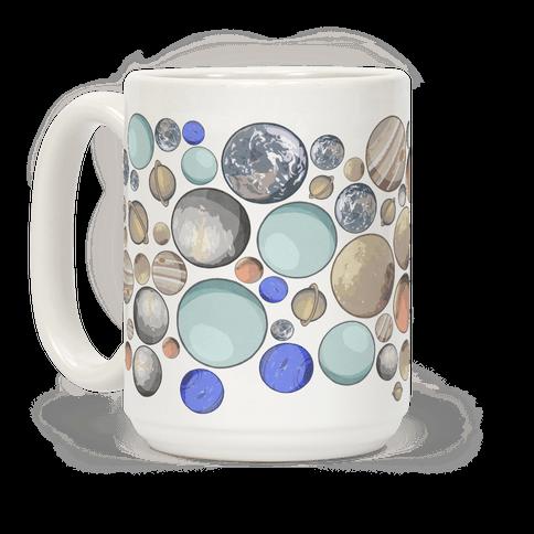 Planets Pattern Coffee Mug