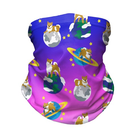 Shibas in Space Neck Gaiter