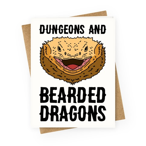 Dungeons And Bearded Dragons Greeting Card