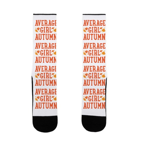 Average Girl Autumn Sock