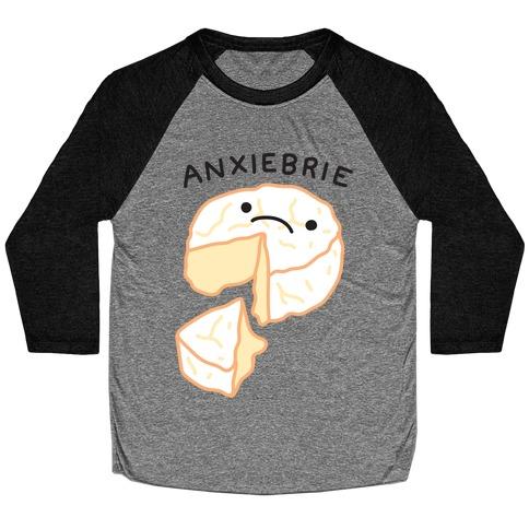 Anxie-brie Anxious Cheese Baseball Tee