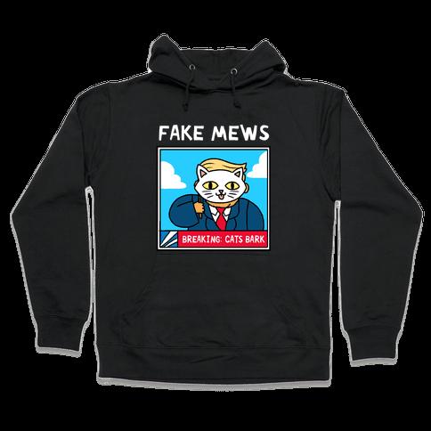 Fake Mews Hooded Sweatshirt