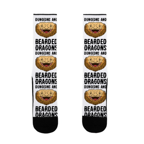 Dungeons And Bearded Dragons Sock