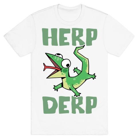 Herp Derp Derpy Lizard Mens/Unisex T-Shirt