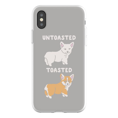 Untoasted and Toasted Corgis Phone Flexi-Case