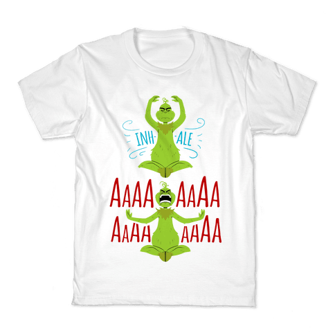 Grinch Yoga Kids T-Shirt